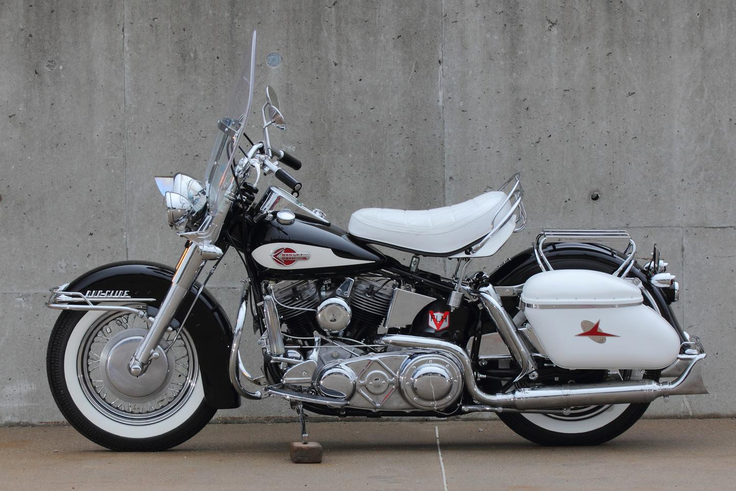 """Gifted new by Harley-Davidson to Rock & Roll's original """"bad boy"""", Jerry Lee Lewis, this 1959 FLH Panhead sold for US$385,000 on January 24, 2015, becoming one of the most expensive motorcycles ever sold at auction."""