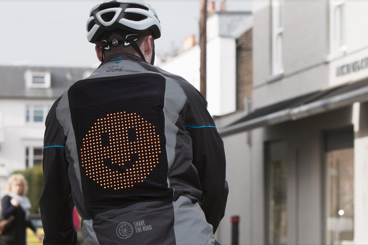 Put on a happy face – the Emoji Jacket in use