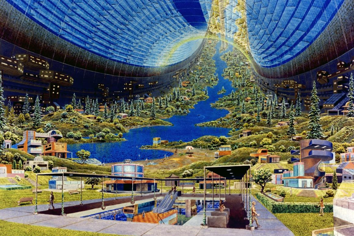 The archetypal space colony image?Don Davis' depiction of a Stanford torus space station