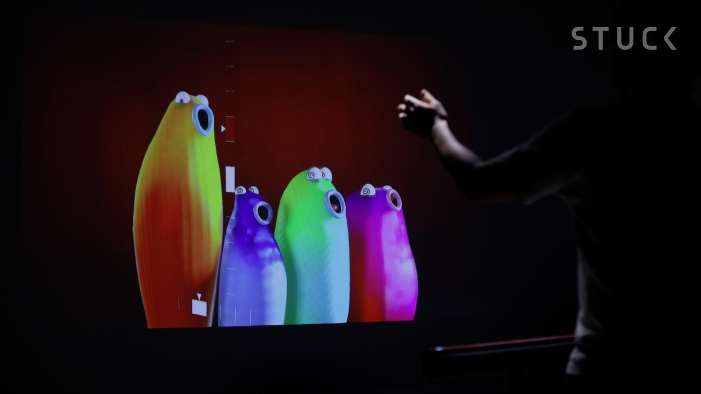 """""""When we came across Google Arts and Culture's Blob Opera, we thought, why stop at controlling these singing blobs with your mouse?"""" says Singapore's Stuck Labs"""