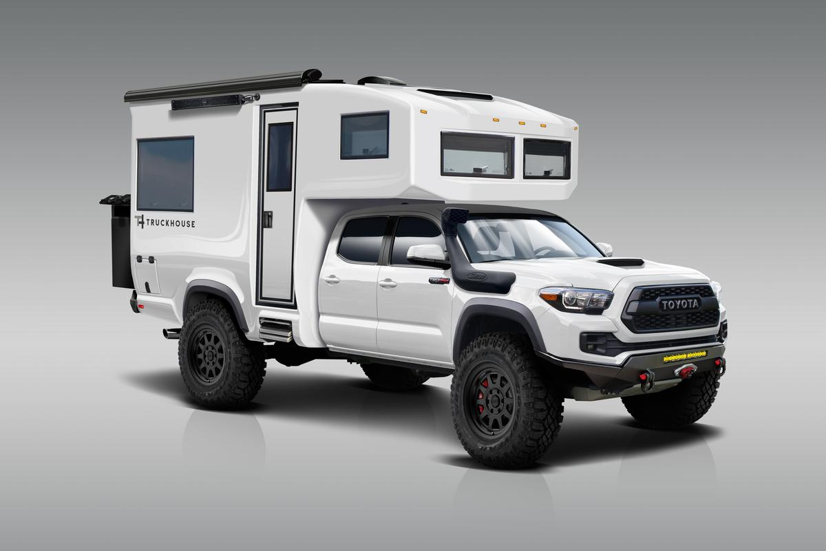 Carbon-monocoque Toyota Tacoma 4x4 RV is a mini explorer yacht on land