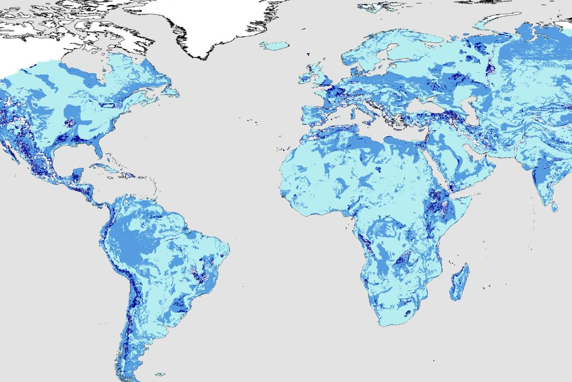 A new study estimates a total volume of almost 23 million cubic kilometers of total groundwater
