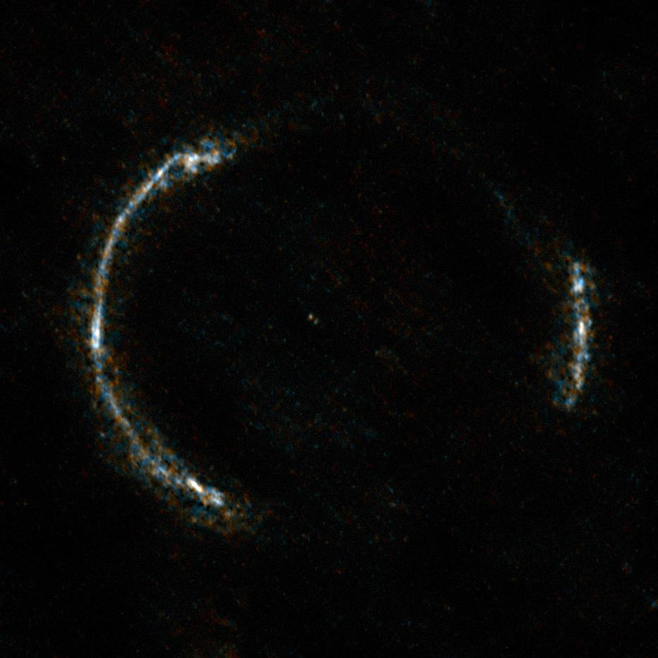 Lensed image of galaxy SDP.81 as taken by ALMA