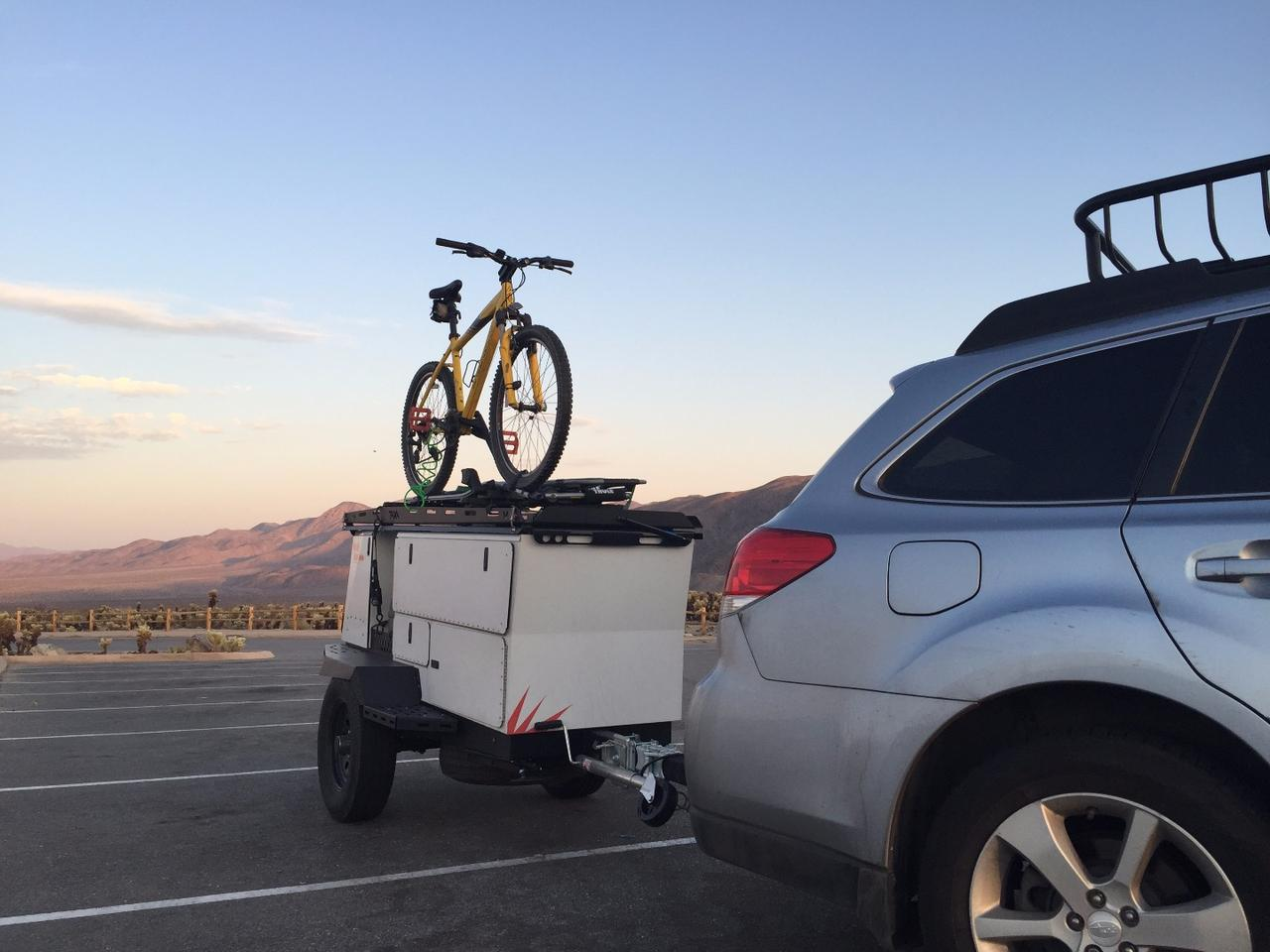 The WoollyBear is designed to be a light, slim cargo/campingtrailer for outdoor adventure
