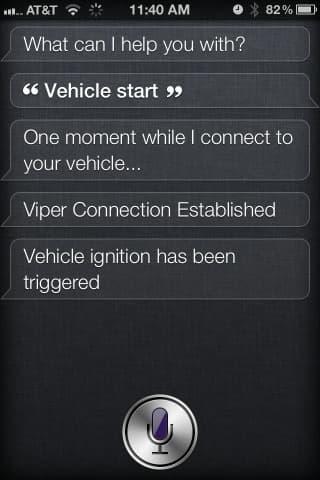 Using Siri to start your car