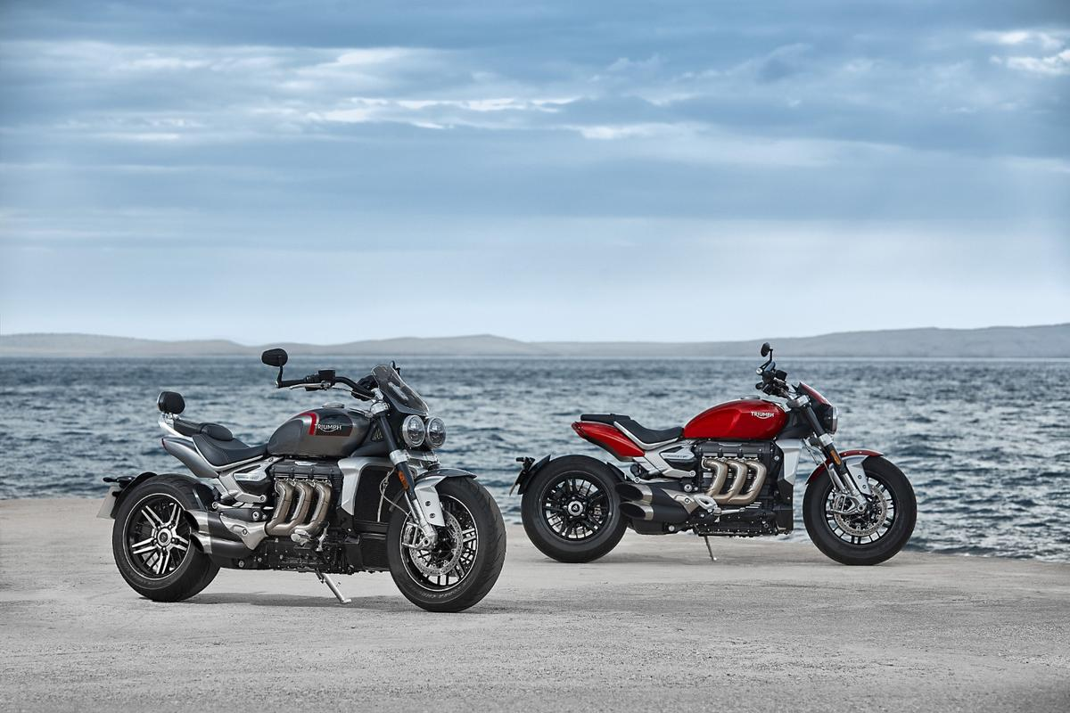 Triumph introduces a new generation of the Rocket 3 roadster for 2020,  in two guises, R and GT