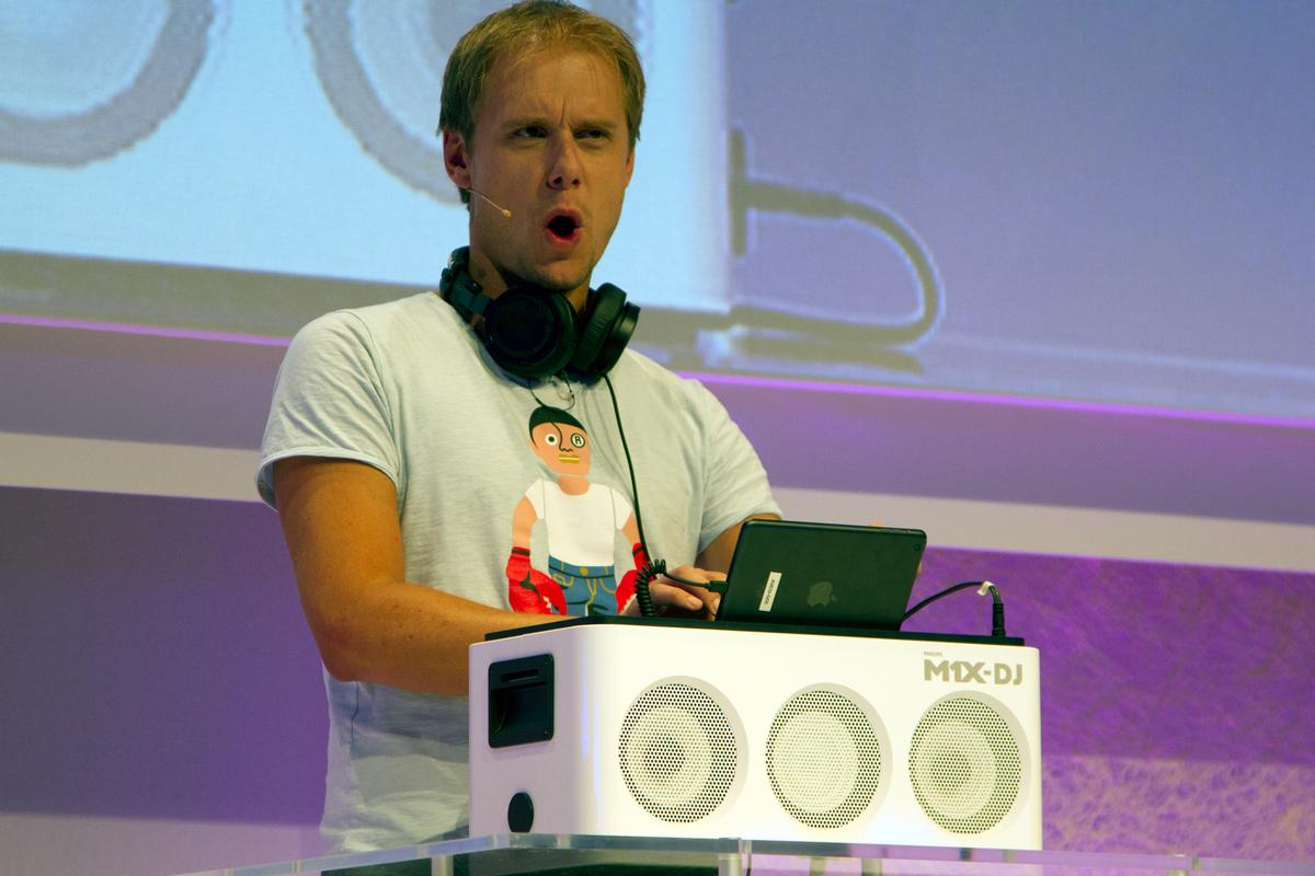 Dutch trance music maestro Armin van Buuren who worked with Philips to produce the M1X-DJ Sound System