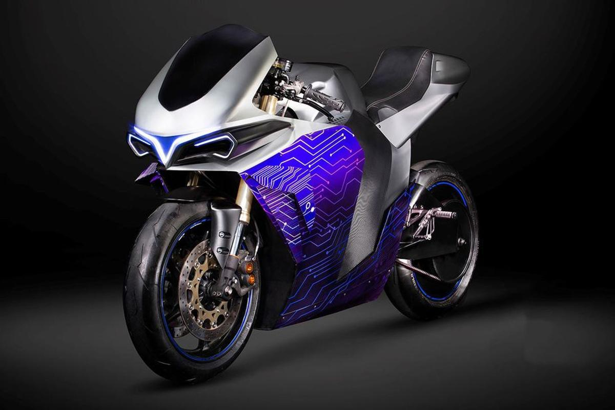 The Emula prototype: an electric motorcycle designed to act like a time machine, emulating the sound, feel and power delivery of motorcycles of the past