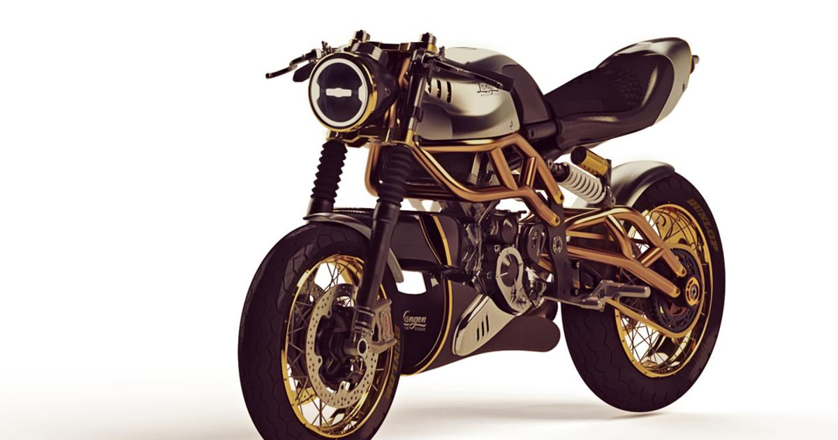 Langen unveils a gorgeous, featherweight 2-stroke cafe racer