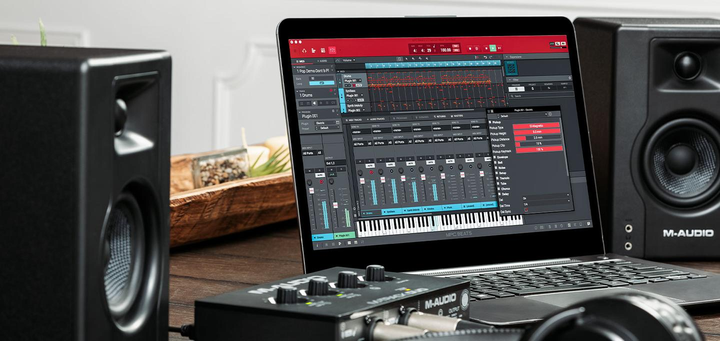 The M-Track Solo and Duo come bundled with music production software
