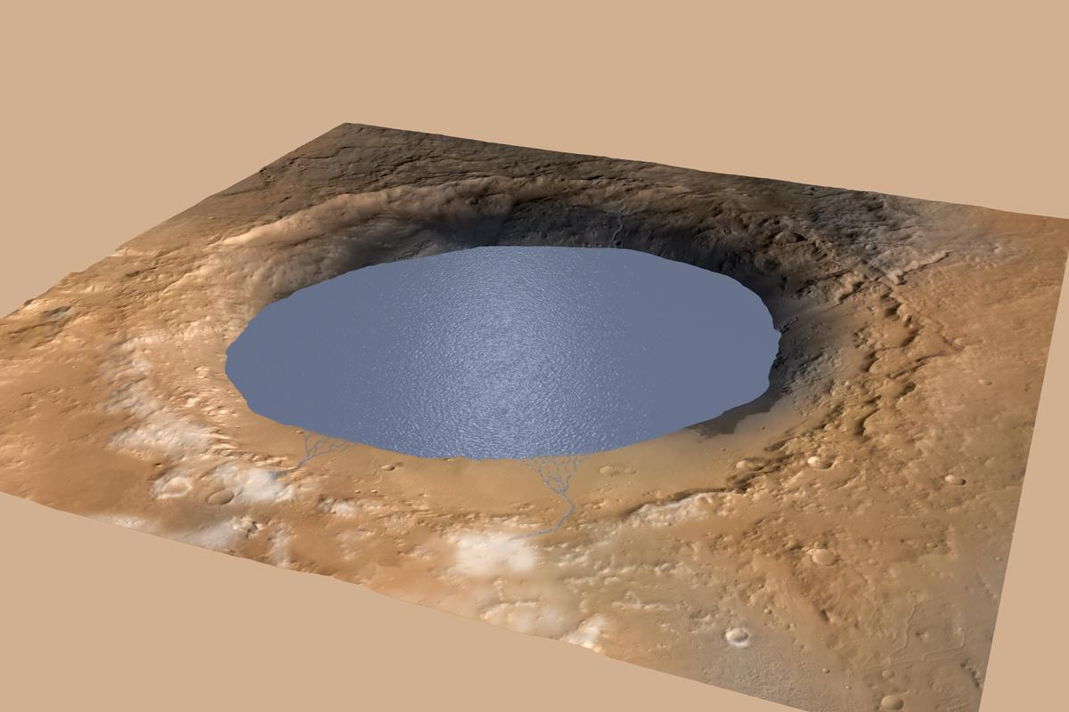 Gale Crater may once have been a lake (Image: NASA/JPL-Caltech/ESA/DLR/FU Berlin/MSSS)