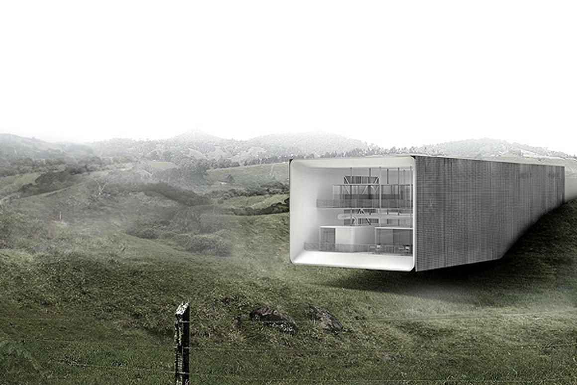 The wind-inducing anabatic office concept from architectural practice Betillin/Dorval-Bory seeks to cool office workers in hot and humid climates without a killer energy footprint (Image: Betillon / Dorval Bory)