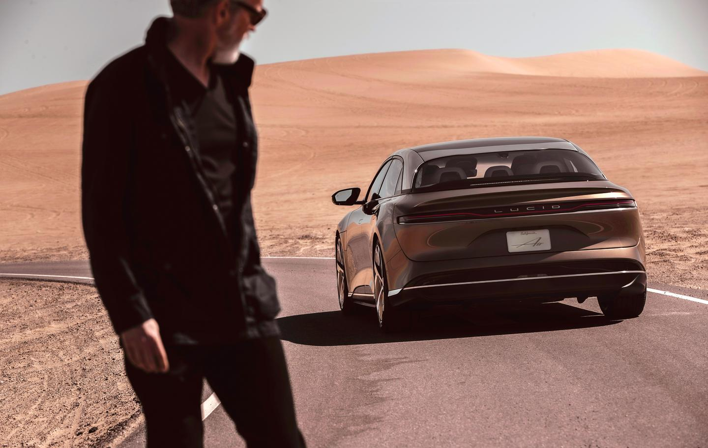 Lucid Motors Air: now turning heads of weird drifters in barren deserts everywhere