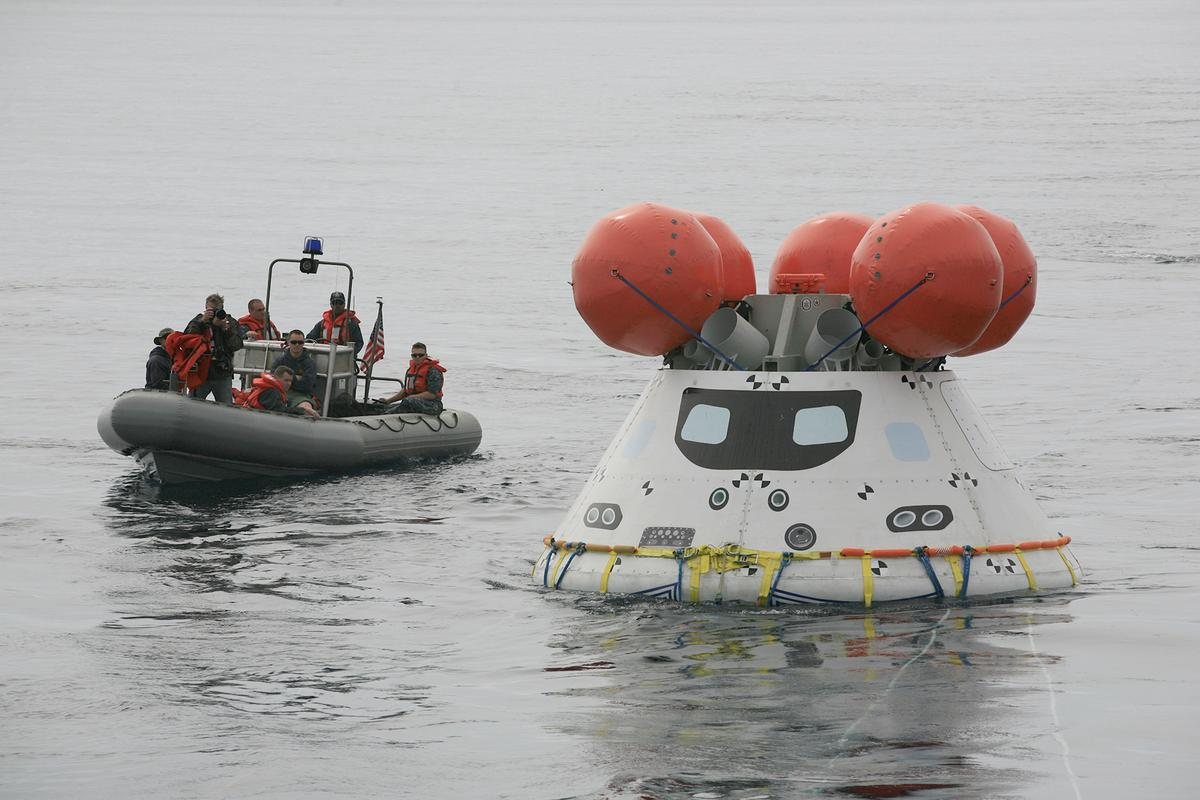 Testing of recovery methods for the Orion spacecraft's maiden test flight in December 2014 were completed this week (Image: NASA)