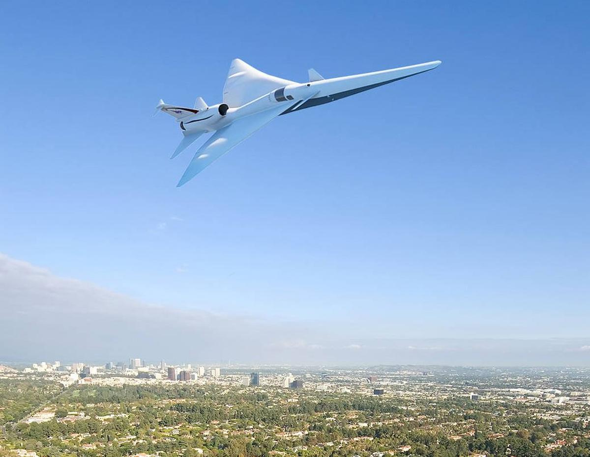 Artist's concept of theLow-boom Flight Demonstration X-plane