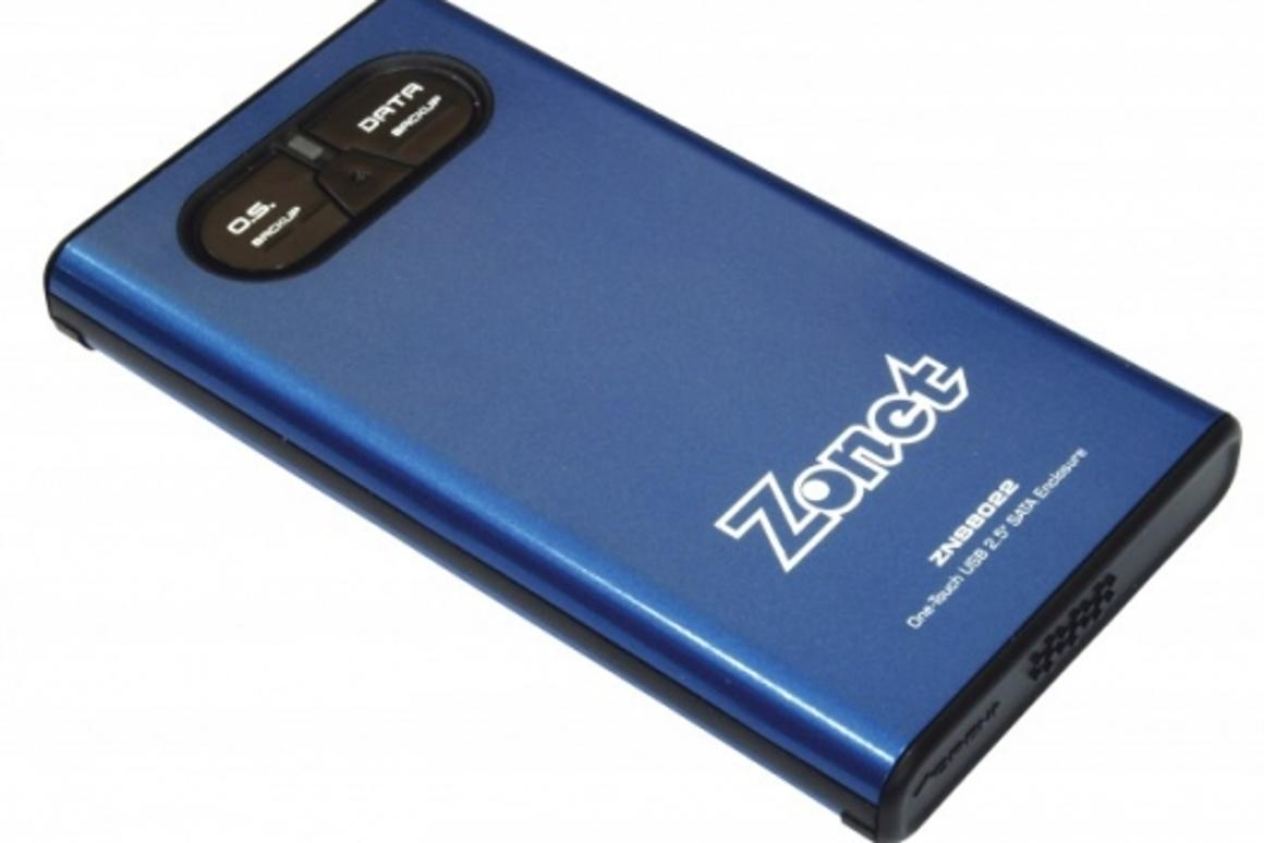 """ZNS8022 2.5"""" USB 2.0 One-Touch SATA Enclosure"""