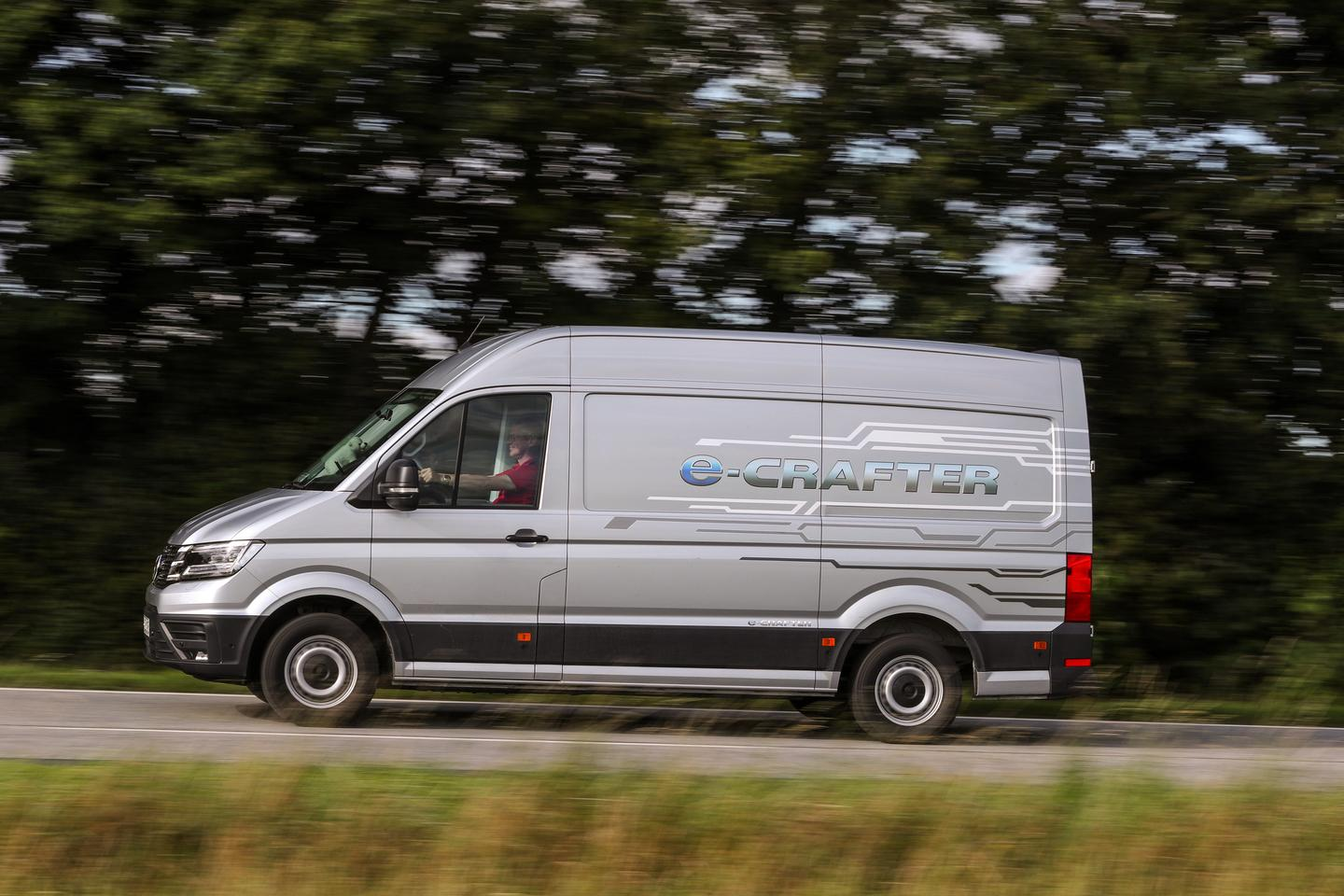 The e-Crafter is powered by a 134-hp electric motor and 35.8-kWh battery