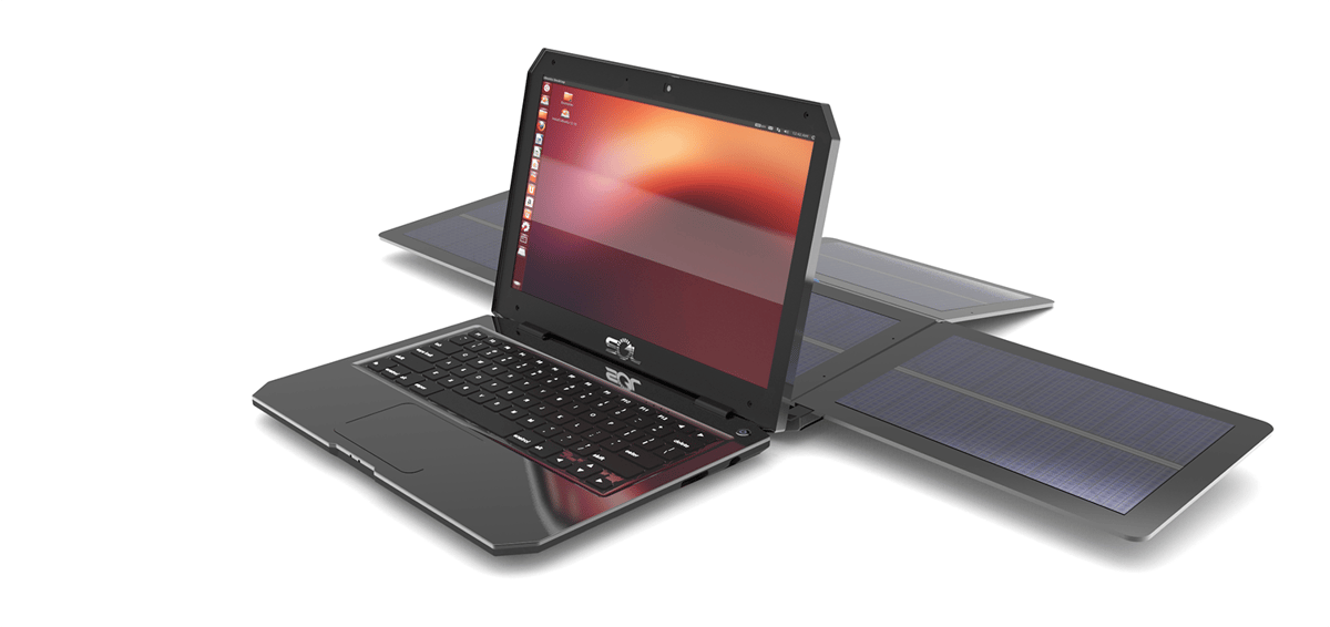 The SOL is a Ubuntu laptop equipped with a detachable solar panel, which the developers claim will provide 10 hours of battery life after just two hours in the sun