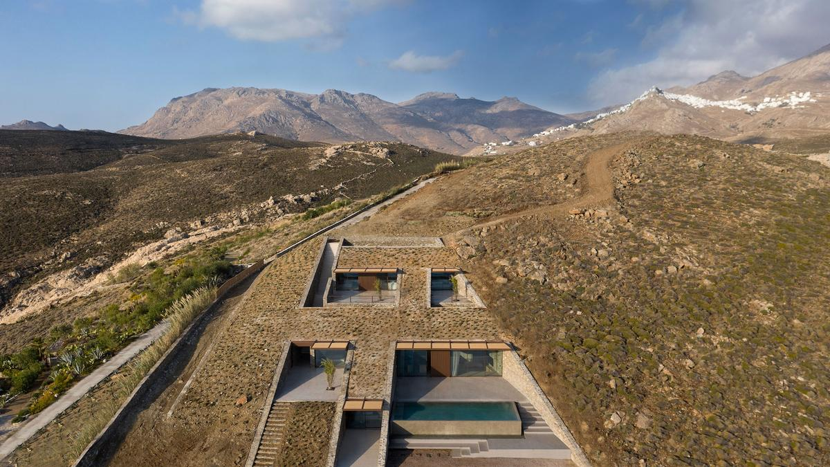 NCaved's sunken design was partly chosen to shield the house from strong coastal winds