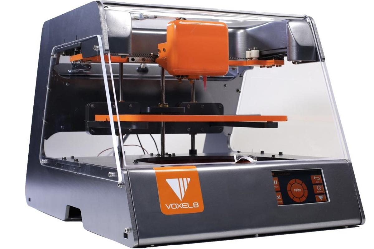 The Voxel8 3D printer can blend plastics and electronics in the same printed object