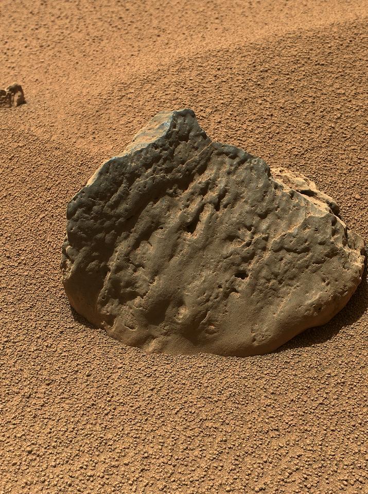 """Rock """"Et-Then"""" as seen by Curiosity's MAHLI imager (Image: ASA/JPL-Caltech/MSSS)"""