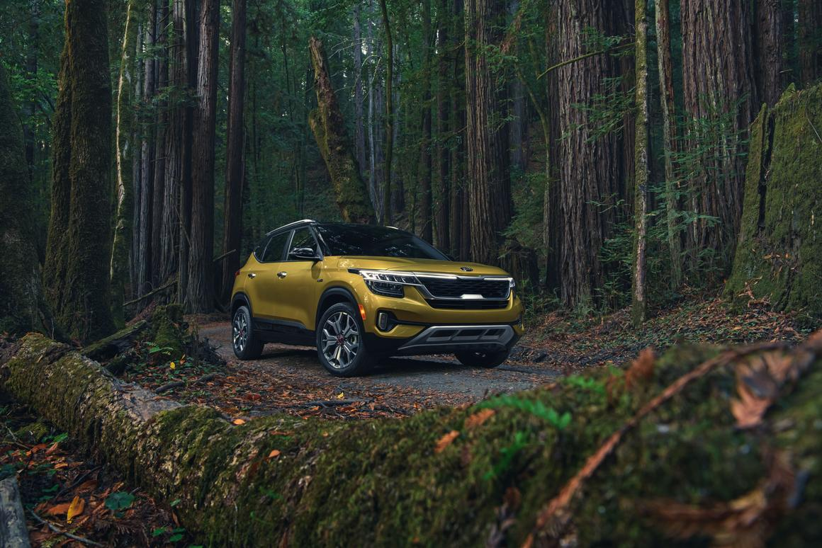 The Seltos certainly isn't a rugged off-roader, but with all-wheel drive, over 7 in of ground clearance, and integrated skid protection, it's not the worst choice to shuttle you to your favorite trailhead