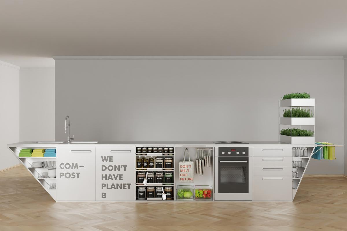 Ivana Steiner has created a zero-waste kitchen, designed to take the effort out of living a zero-waste lifestyle