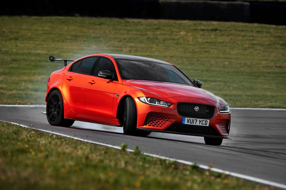 The Jaguar XE SV Project 8 gets sideways