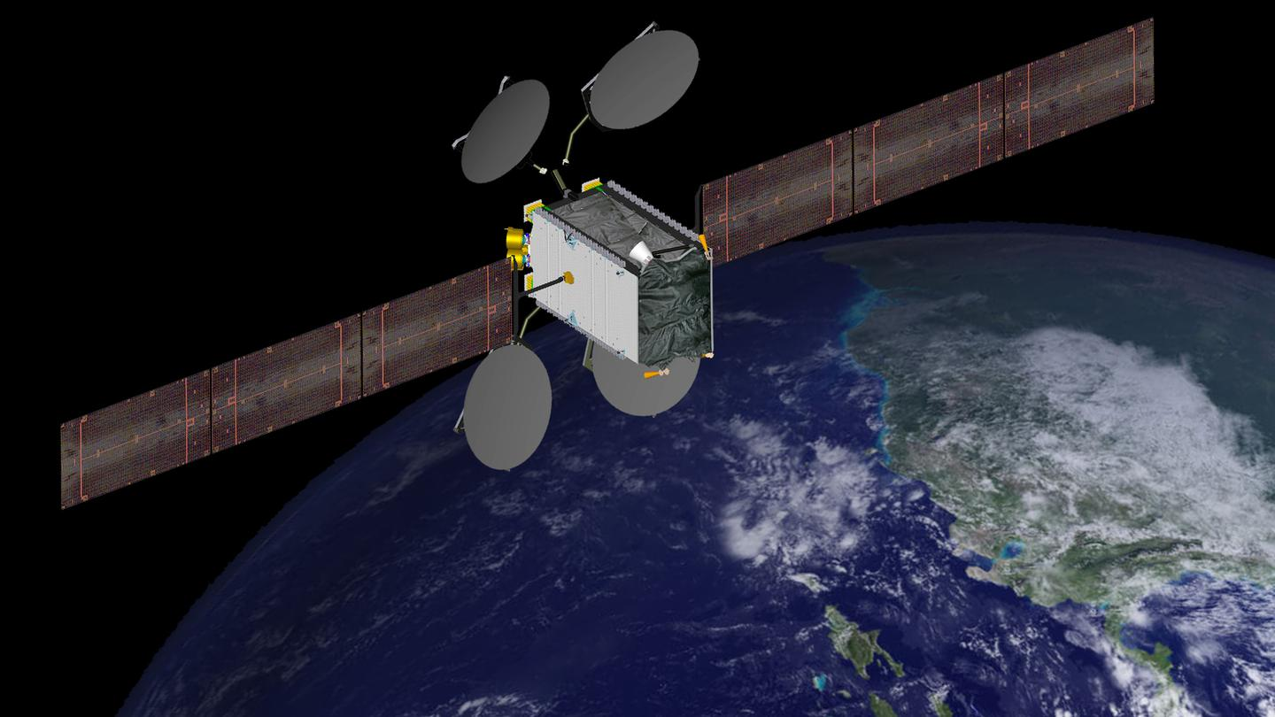 Two of Boeing's 702SP satellites will be launched stacked one on top of another (Image: Boeing)