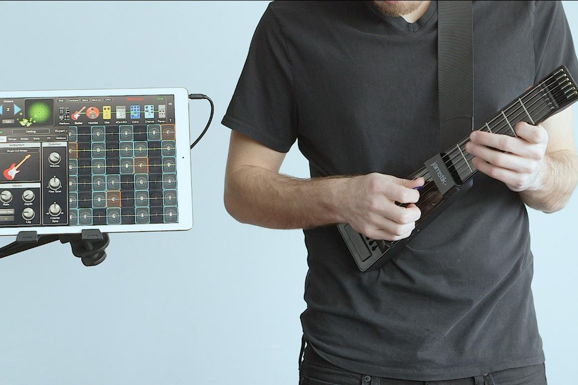 A match made in tone heaven: the jamstik+ smart learning guitar and the award winning GeoShred virtual guitar and effects app
