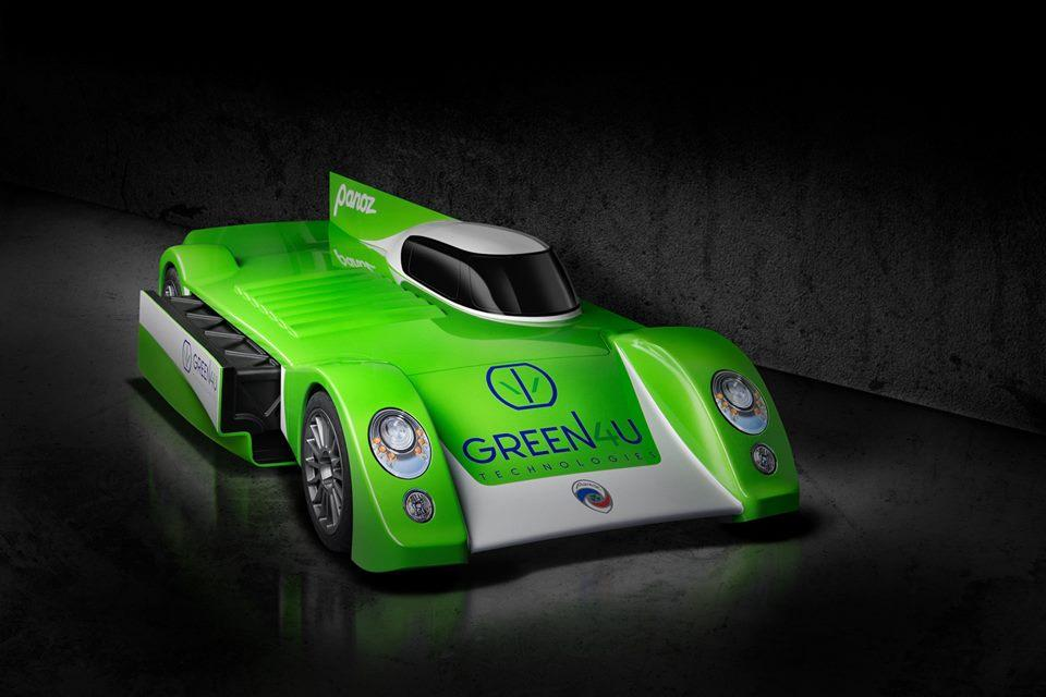 Its official name is the Green4U Panoz Racing GT-EV