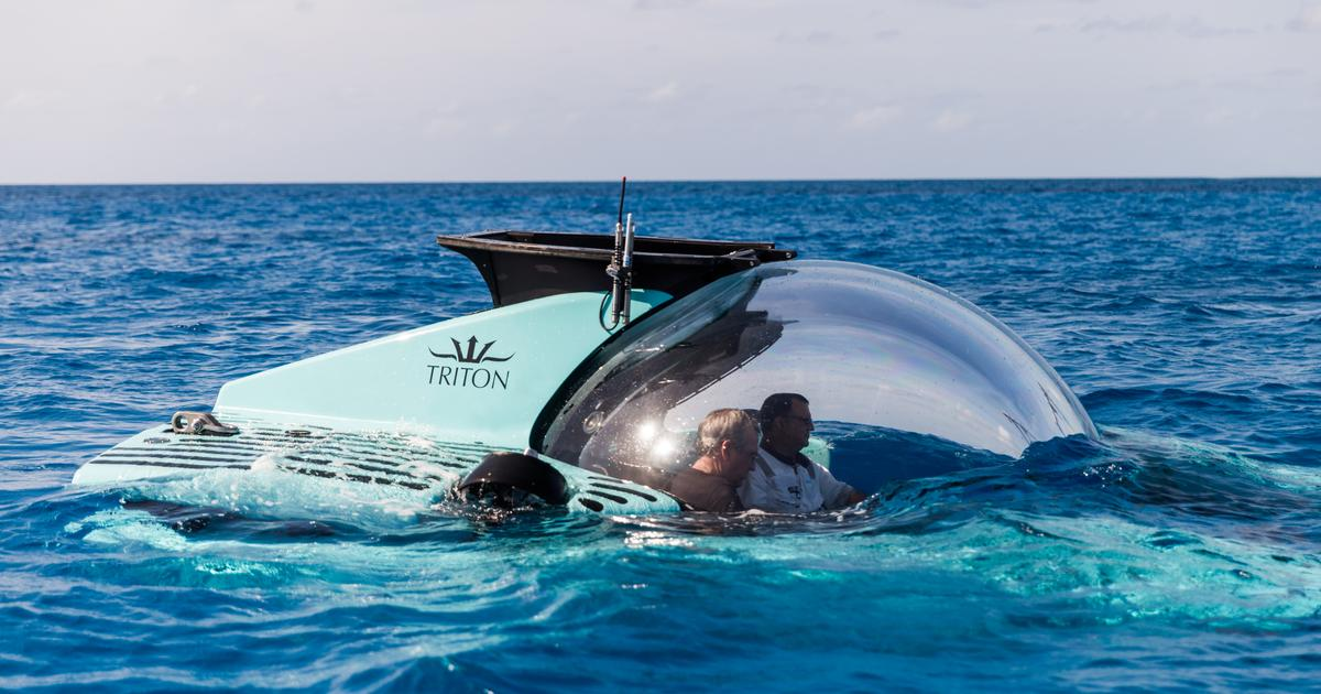 Triton's latest submarine puts six people in a bubble, 3,300 ft under