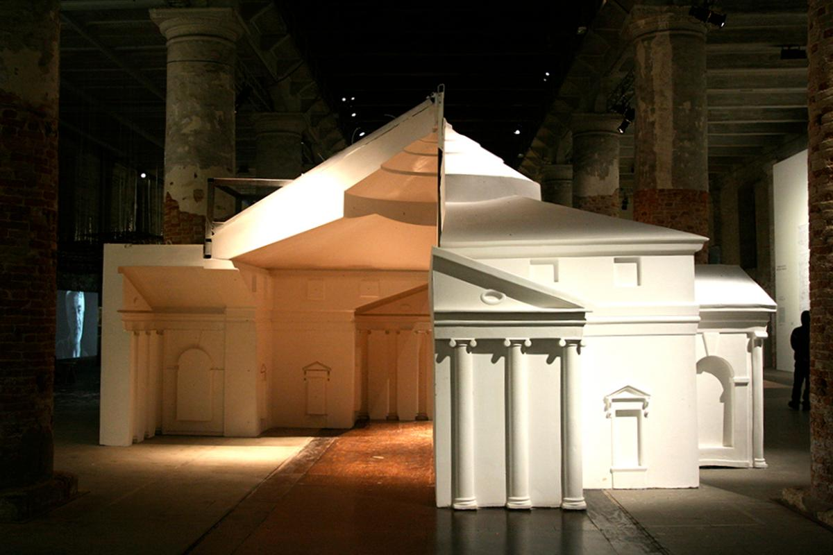 An exhibit by FAT Architecture, at the 13th International Architecture Exhibition of la Biennale di Venezia (Photo: Bridget Borgobello)