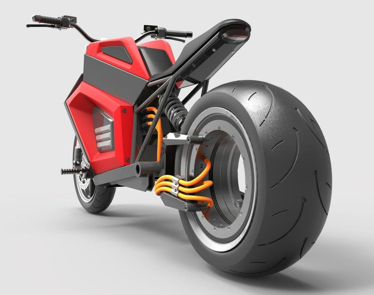 RMK E2: hubless rear drive looking badass with those exposed wires