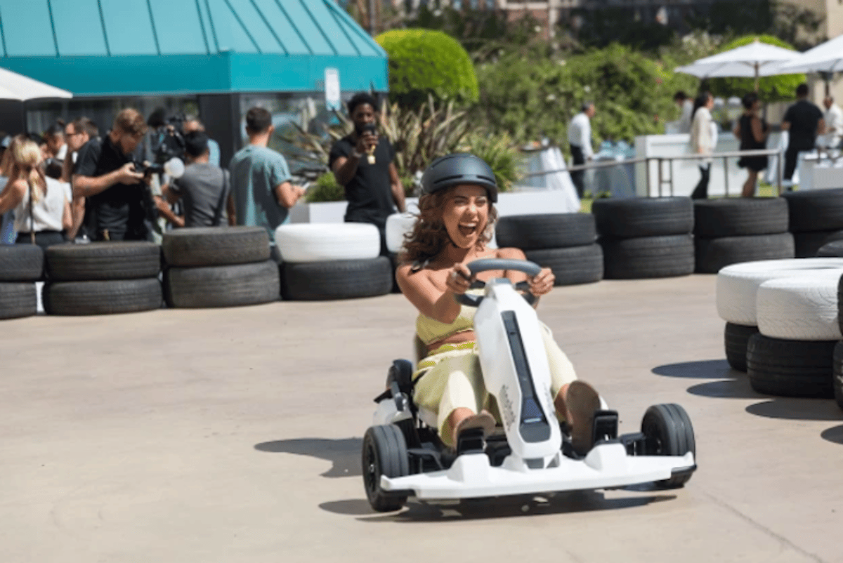 The Ninebot Electric Gokart features an adjustable frame for riders of all sizes