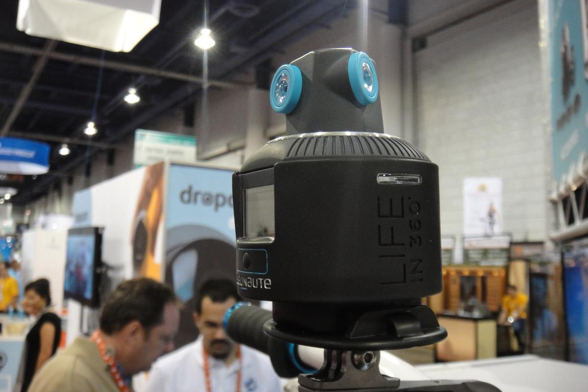 Geonaute revealed a new action camera at CES that records video from every direction, which users can later pan through as it plays on a tablet or smartphone