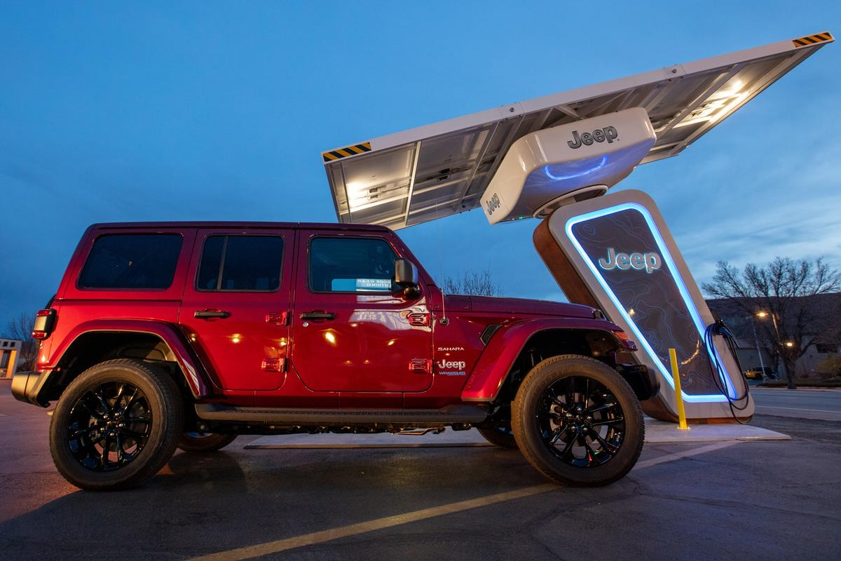 The buildout of Jeep's trailhead charger network coincides with the launch of the 2021 Wrangler 4xe plug-in hybrid