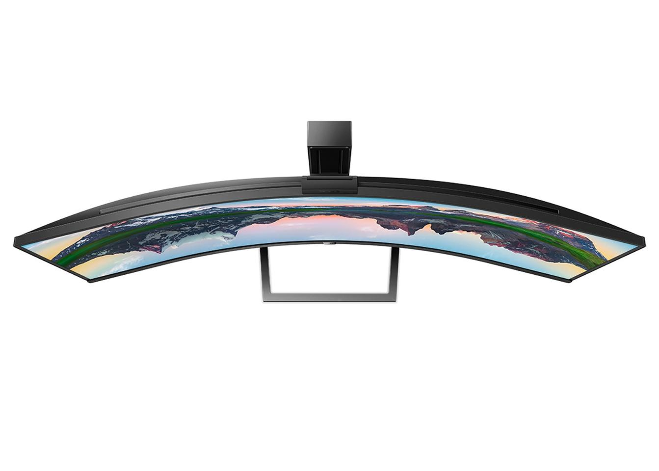 The new Philips monitors feature a webcam that pops up from the casing
