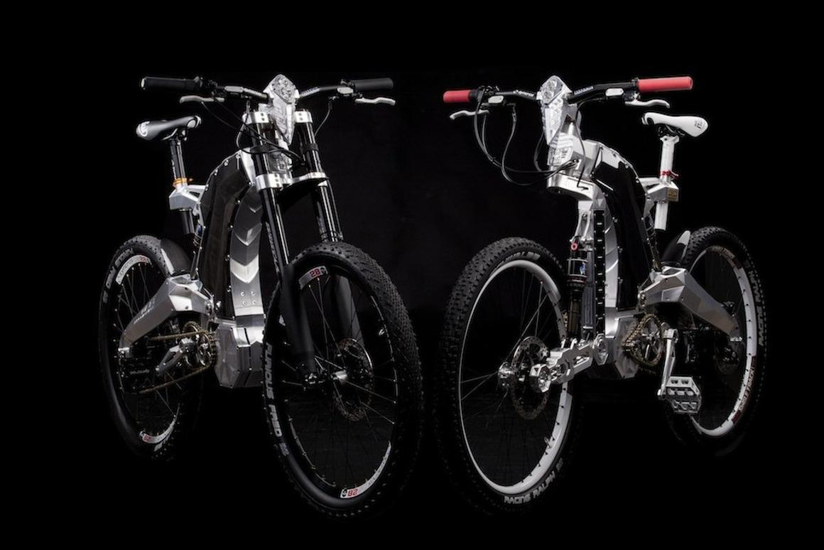 Budapest's M55 has announced the launch of the first two versions of its new Terminus luxury hybrid bike - one of which features a one-of-a-kind Biceps single-arm front suspension system