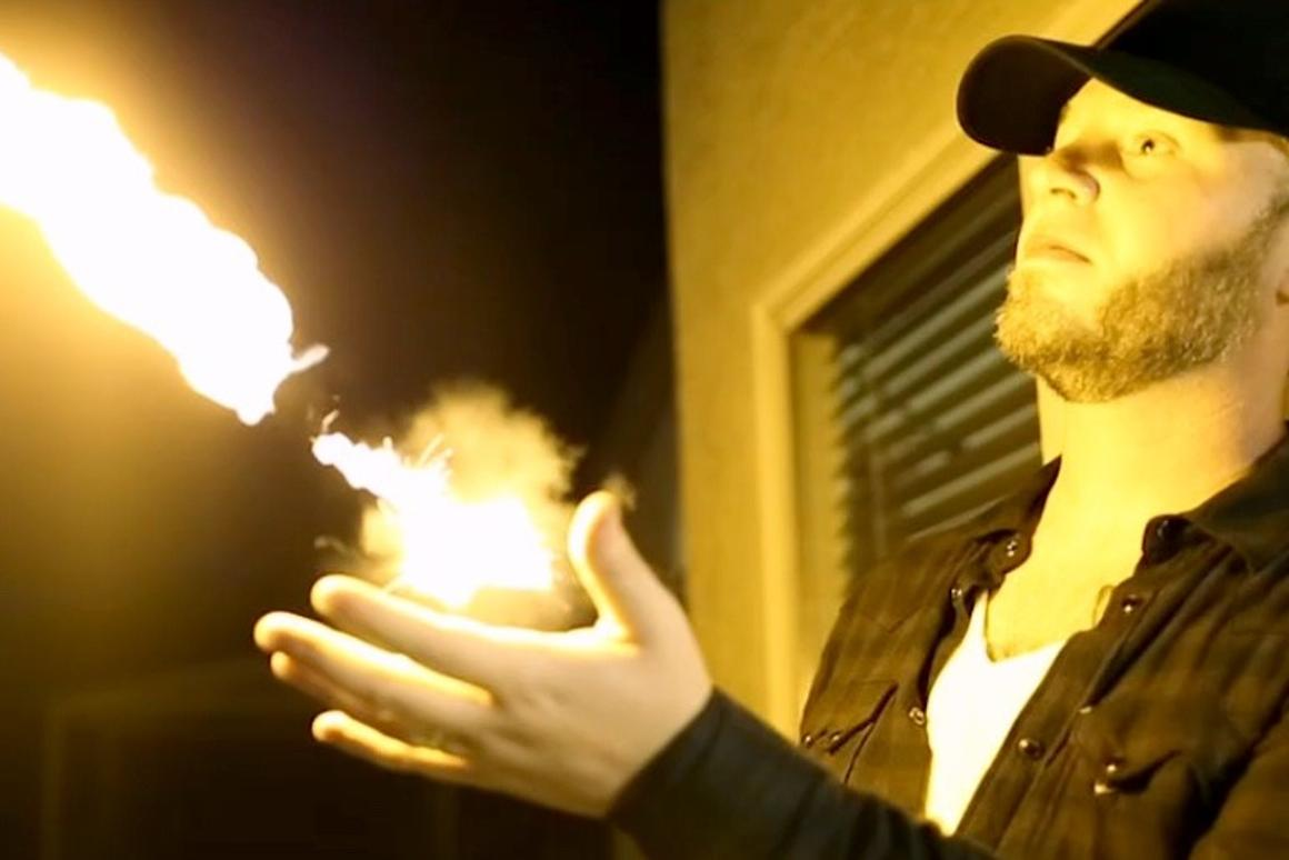The Pyro Fireshooter is a wearable device that shoots fireballs from the user's wrist