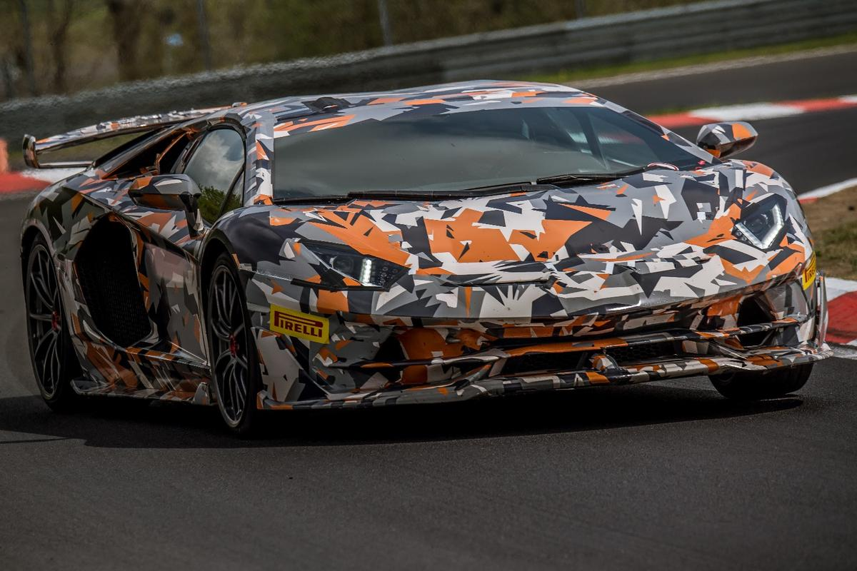 The new 6:44.97 time in the Aventador SVJ sets the current production vehicle record for the Nurburgring Nordshleife
