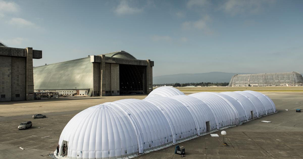 Solar Impulse deploys inflatable hangar for the first time