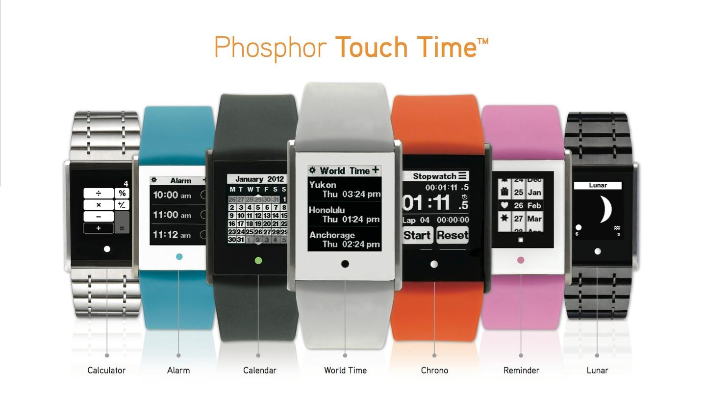 Touch Time integrates style with innovation in watch design