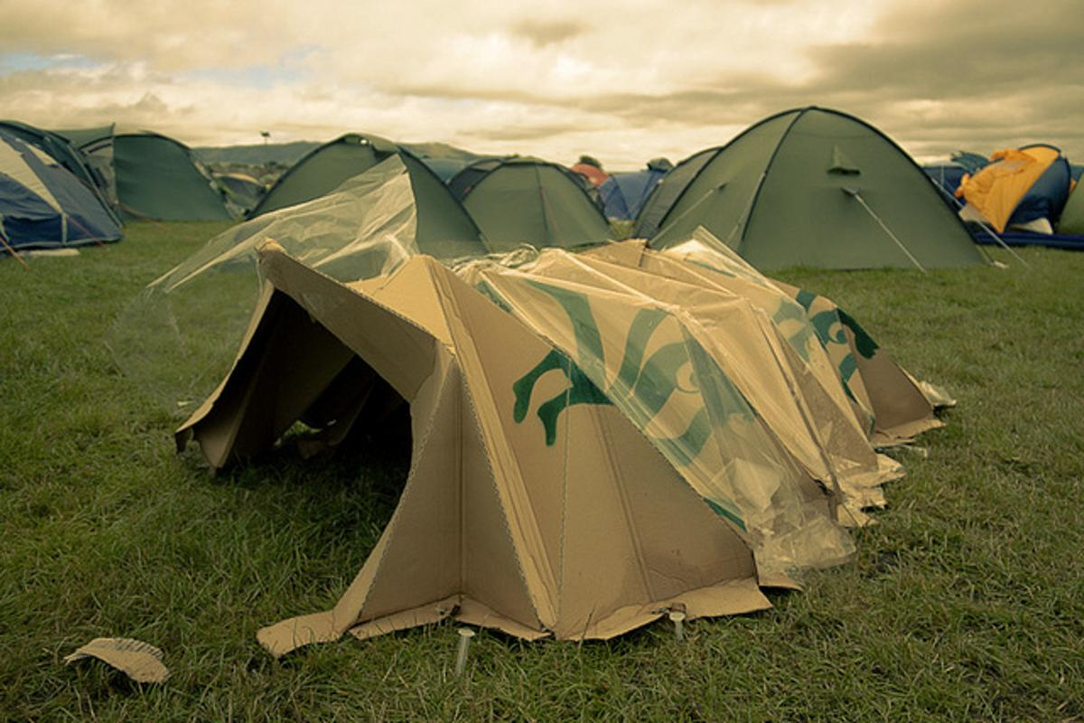 Vanessa trialled the concertina-style tent at UK festival, T In The Park (Credit: Ross Cairns)