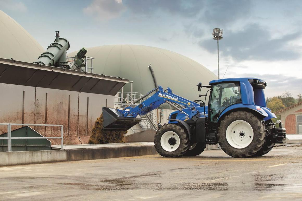 The New Holland T6.180 Methane Power tractor