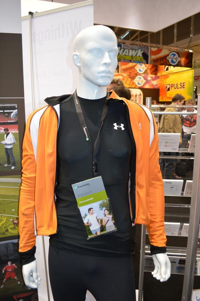 Fraunhofer displays its FitnessSHIRT at ISPO 2013