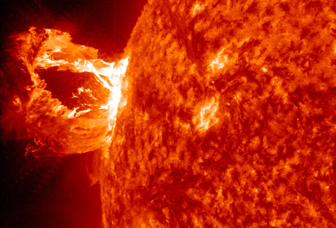 The Sun's magnetic field controls many phenomena, such as this solar flare seen by NASA's Solar Dynamics Observatory