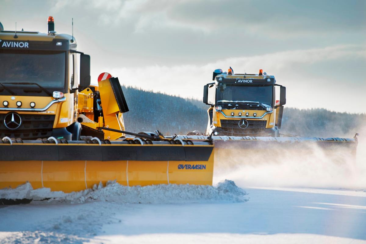 The Yeti autonomous snowplows are designed to act as a team