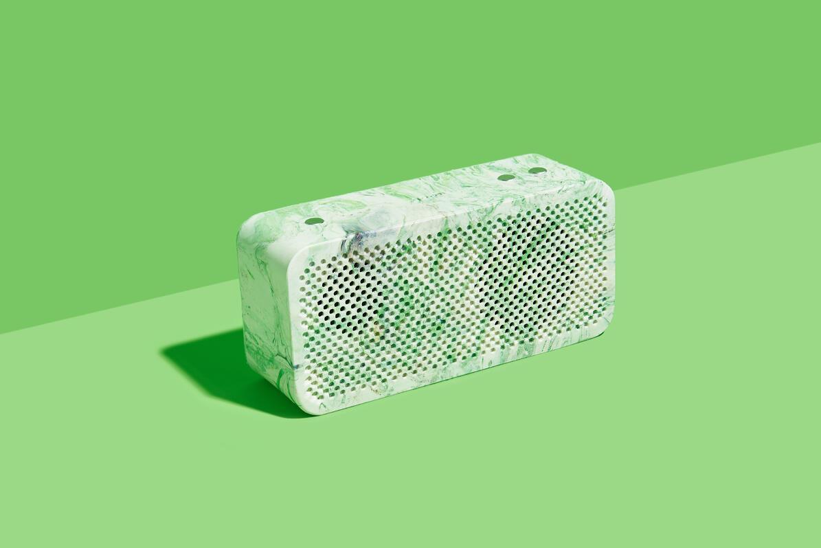 The Gomi speaker in green
