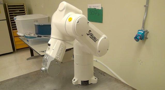 An existing robotic arm, which could be adapted for use in GE's system